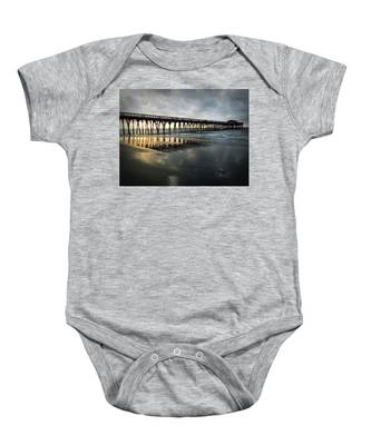 Storm At Sunrise In Color Baby Onesie
