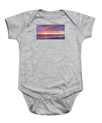 Sunrise Pinks Baby Onesie