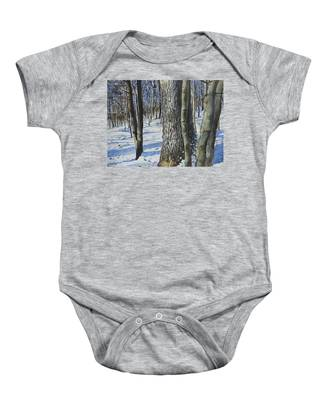 Through The Woods Baby Onesie