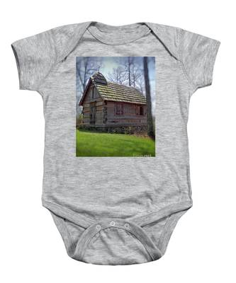Tom's Country Church And School Baby Onesie