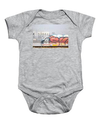 Baby Onesie featuring the photograph Train Art by Dart and Suze Humeston