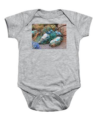 Turquoise Rocks Baby Onesie