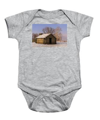 Valley Forge Cabin At Sunset Baby Onesie