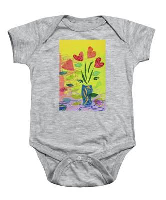 Vase Full Of Love Baby Onesie