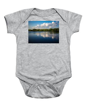 Baby Onesie featuring the photograph Water Reflection by Dart and Suze Humeston