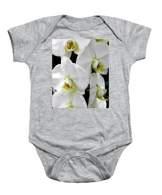 White Orchid Baby Onesie