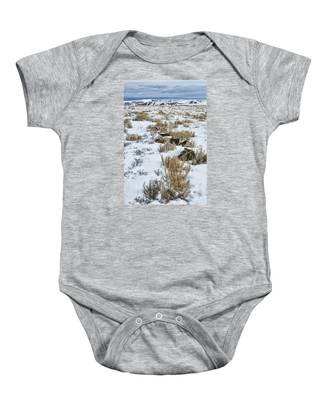 Winter Light In The High Desert Baby Onesie