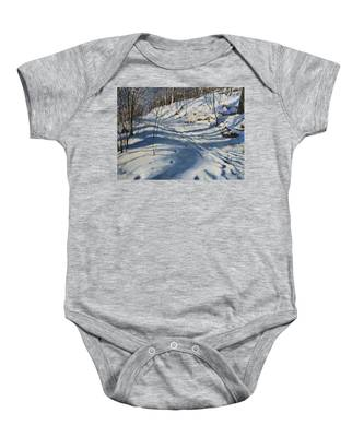Winter's Shadows Baby Onesie