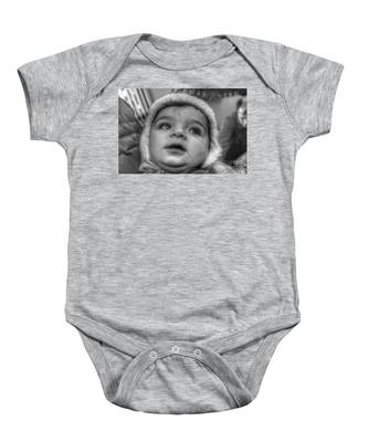 Youth In A Fleece Lined Cap Baby Onesie