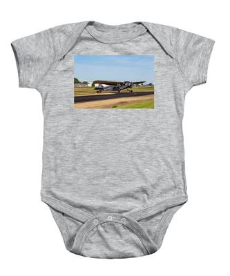 Ford Tri-motor Airplane Baby Onesie by Dart Humeston