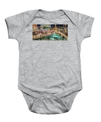 View Of The Venetian Hotel Resort And Casino Baby Onesie