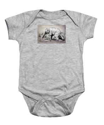 Baby Elephant Walk Baby Onesie