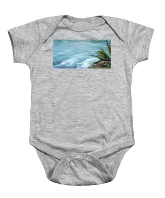 Blue River Flows By Baby Onesie