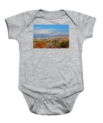 Boise In Fall Baby Onesie by Dart and Suze Humeston