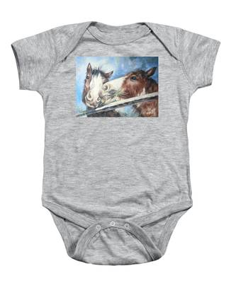 Clydesdale Pair Baby Onesie