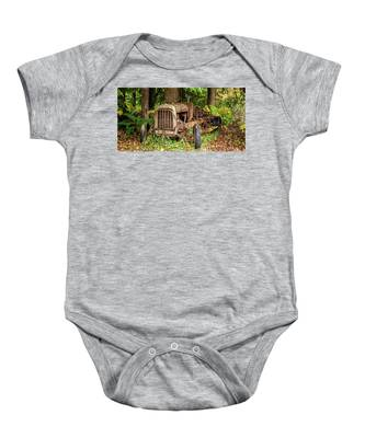 Old Logging Equipment-1 Baby Onesie