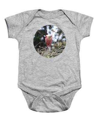 Spoonbill On Branches Baby Onesie