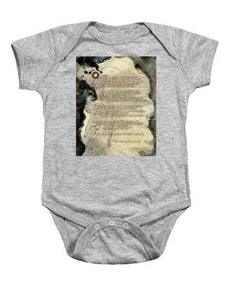 The Tale Of Two Wolves Baby Onesie