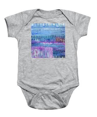 Winter Blues 3 Baby Onesie