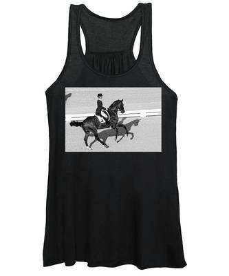 Women's Tank Top featuring the photograph Dressage Une Noir by Alice Gipson