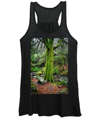 Green Green Moss Women's Tank Top