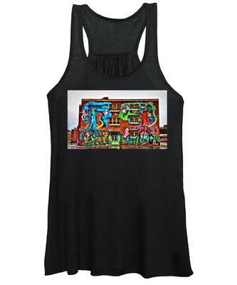 Women's Tank Top featuring the photograph Mural On School by Alice Gipson