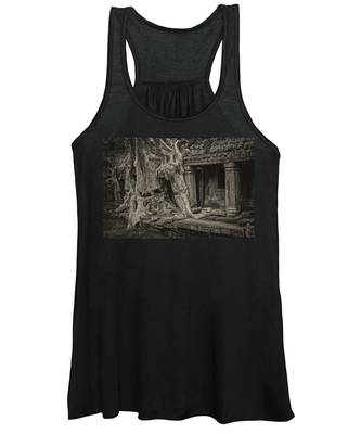 Roots In Ruins 7, Ta Prohm, 2014 Women's Tank Top