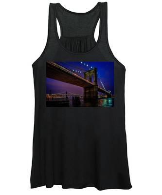 Twilight At The Brooklyn Bridge Women's Tank Top