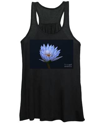 Water Lily Shades Of Blue And Lavender Women's Tank Top