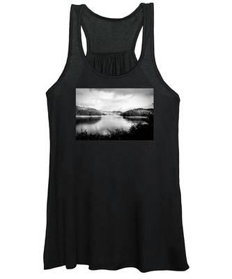 A Black And White Landscape On The Nantahala River Women's Tank Top