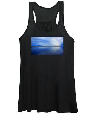 Beach Rainbow Reflection Women's Tank Top
