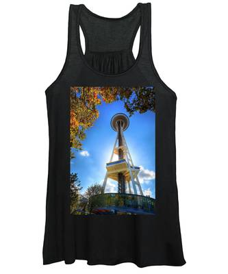 Fall Day At The Space Needle Women's Tank Top