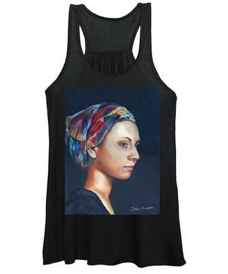 Girl With Headscarf Women's Tank Top