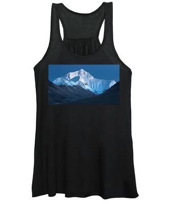 Mount Everest At Blue Hour, Rongbuk, 2007 Women's Tank Top