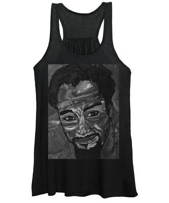 Shane In Black And White Women's Tank Top