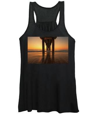 St Augustine Beach Pier Morning Light Women's Tank Top