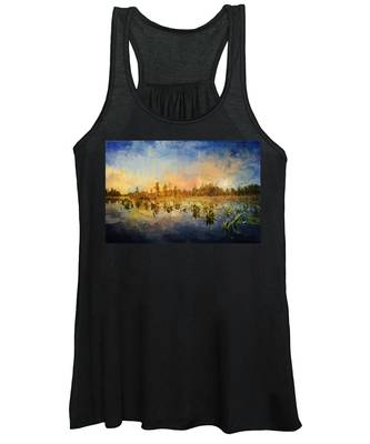 Sunset Over The Okefenokee Women's Tank Top