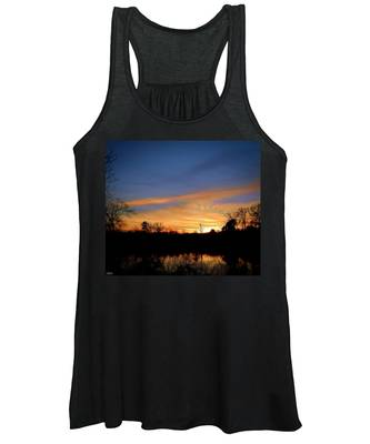 Sunset Over The Sabine 02 Women's Tank Top