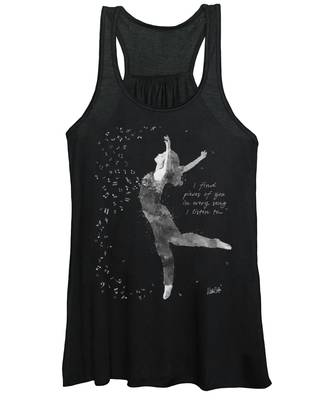Beloved Deanna Radiating Love And Light In Black And White Women's Tank Top