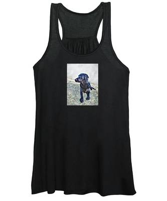 Black Labrador Retriever - Daisy Women's Tank Top