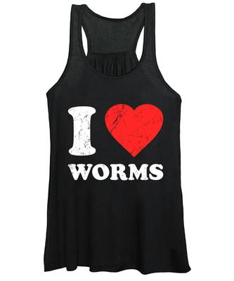I Love Worms Women's Tank Top