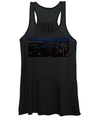 New York City Skyline At Night Women's Tank Top