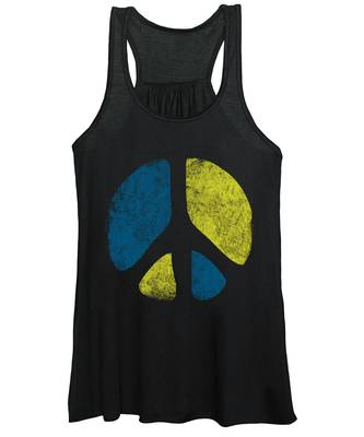 Vintage Peace Sign Women's Tank Top