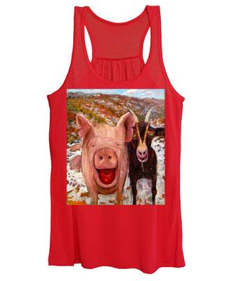 Pig And Goat Women's Tank Top