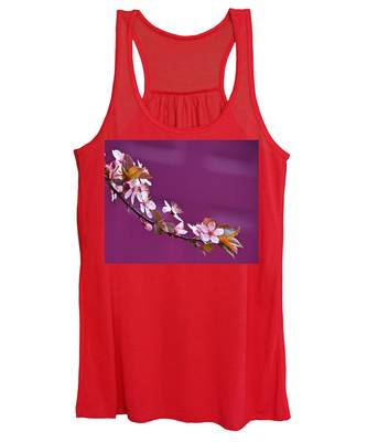 Cherry Blossoms And Plum Door Women's Tank Top