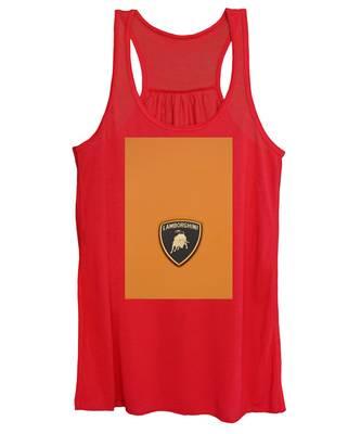 Lambo Hood Ornament Orange Women's Tank Top