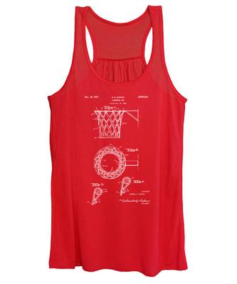 1951 Basketball Net Patent Artwork - Red Women's Tank Top