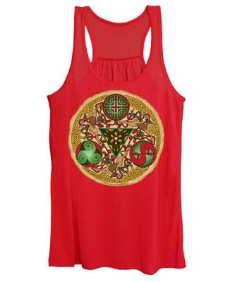 Celtic Reindeer Shield Women's Tank Top