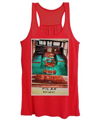 Women's Tank Top featuring the photograph Cuba Hemingway Pilar by Alice Gipson