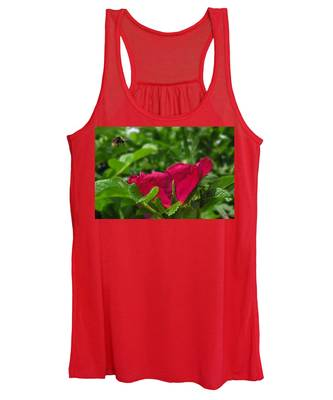 Women's Tank Top featuring the photograph Incoming Rose by Rasma Bertz